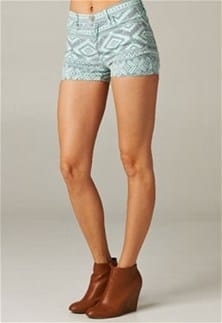 O2 Aztec Denim Shorts