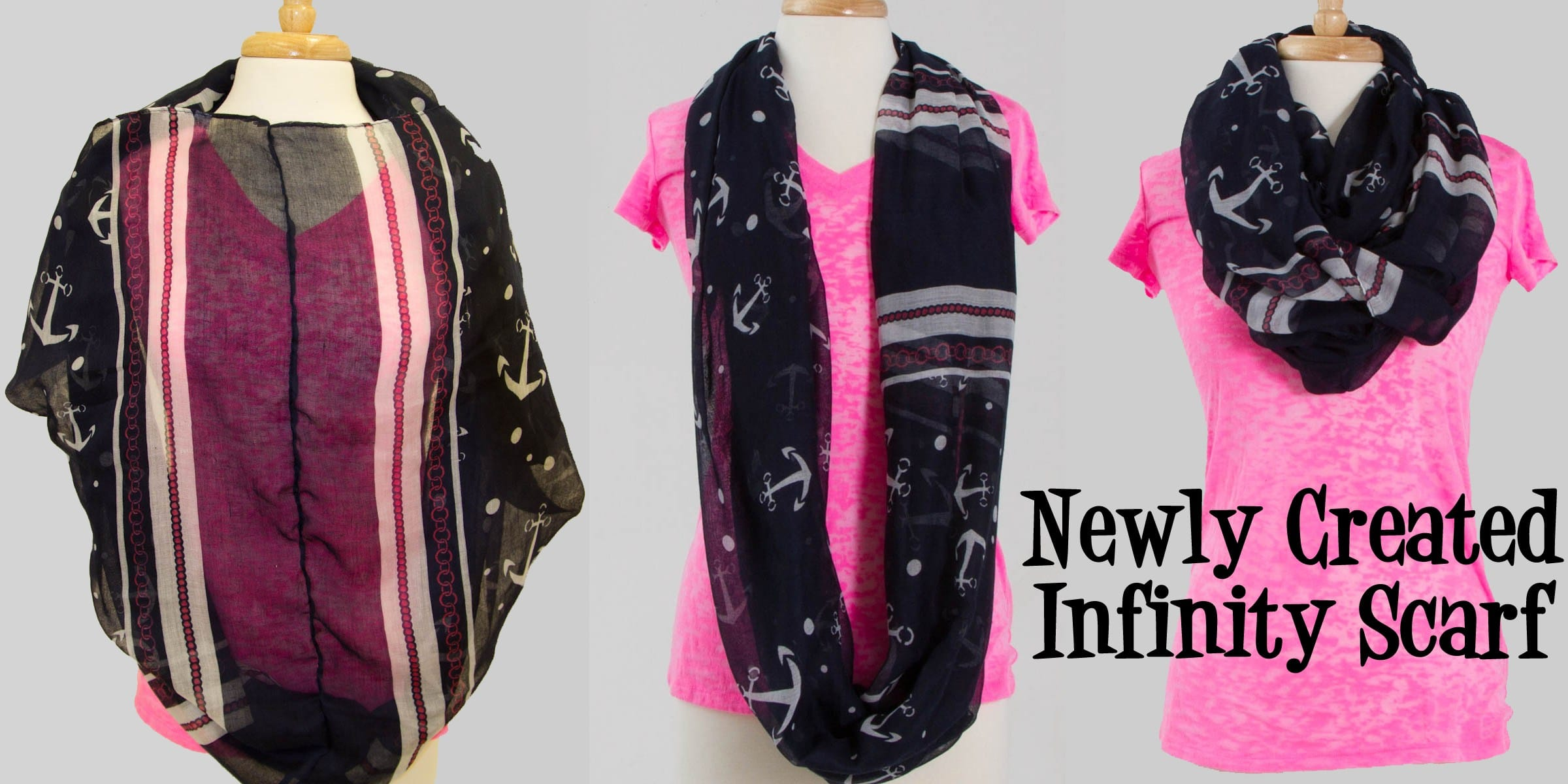 Sew your own infinity scarf