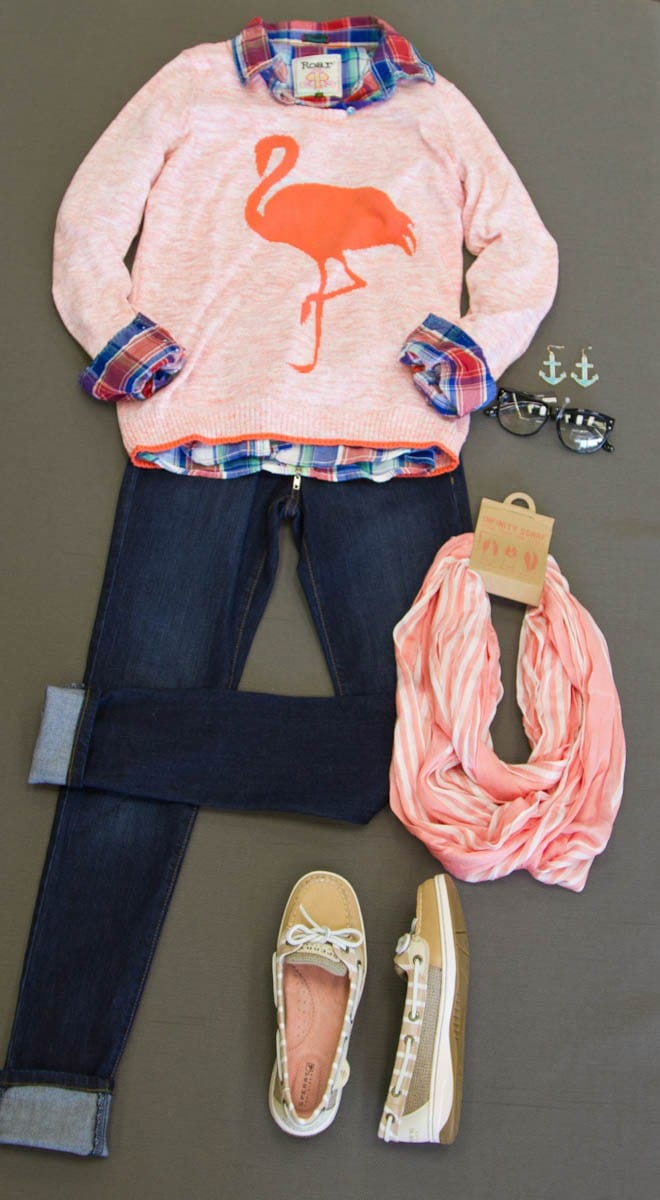 Layered wovens and cardigans or sweaters are a perfect way to add a preppy spin on your Nautical look.