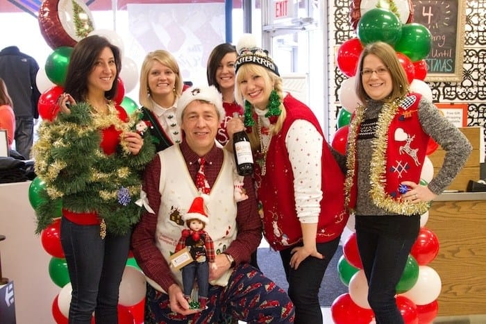 The top five winners for Ugliest Christmas Sweater!