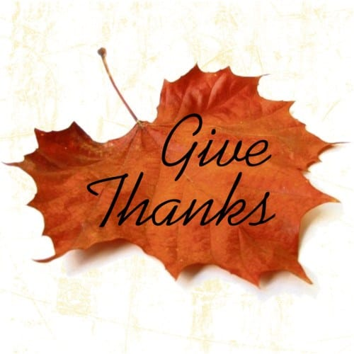 Give Thanks this Thanksgiving