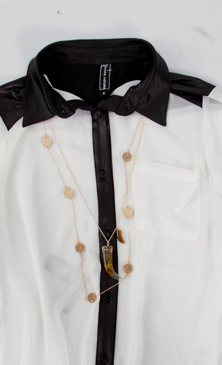 Necklace for a collared button down shirt