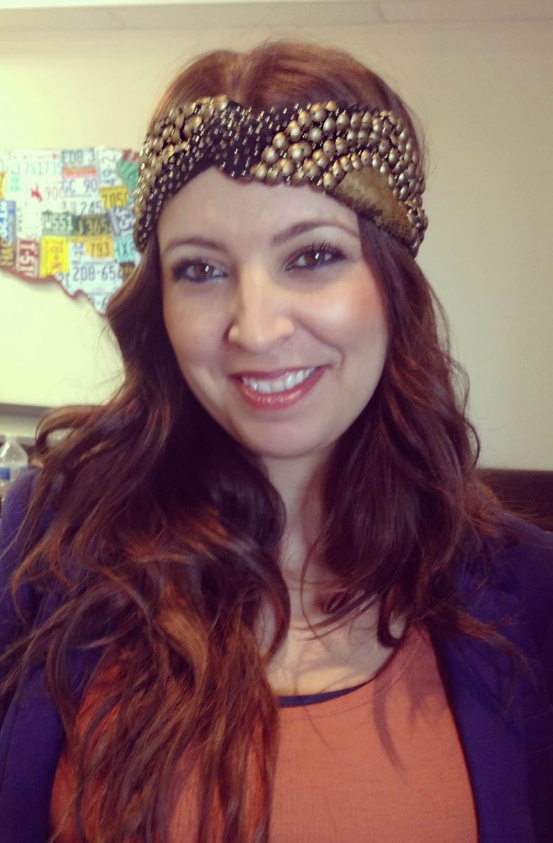Mireya of Pink Pewter showing off the new turban