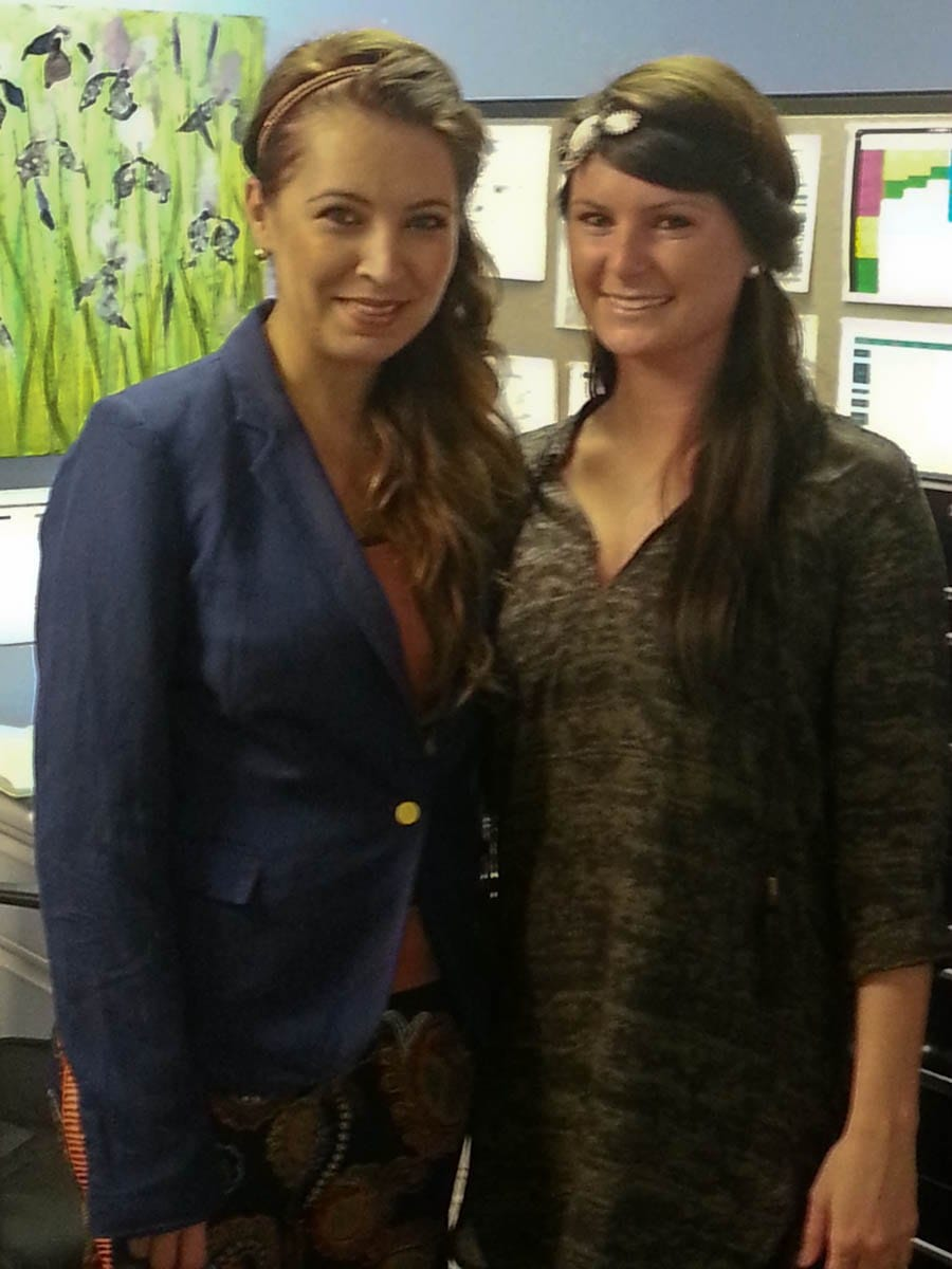 Mireya found our Women's Assistant Buyer, Shannon, wearing a Pink Pewter headband!
