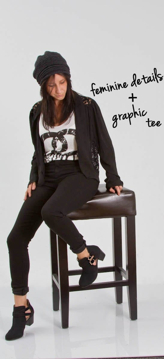 graphic and lace