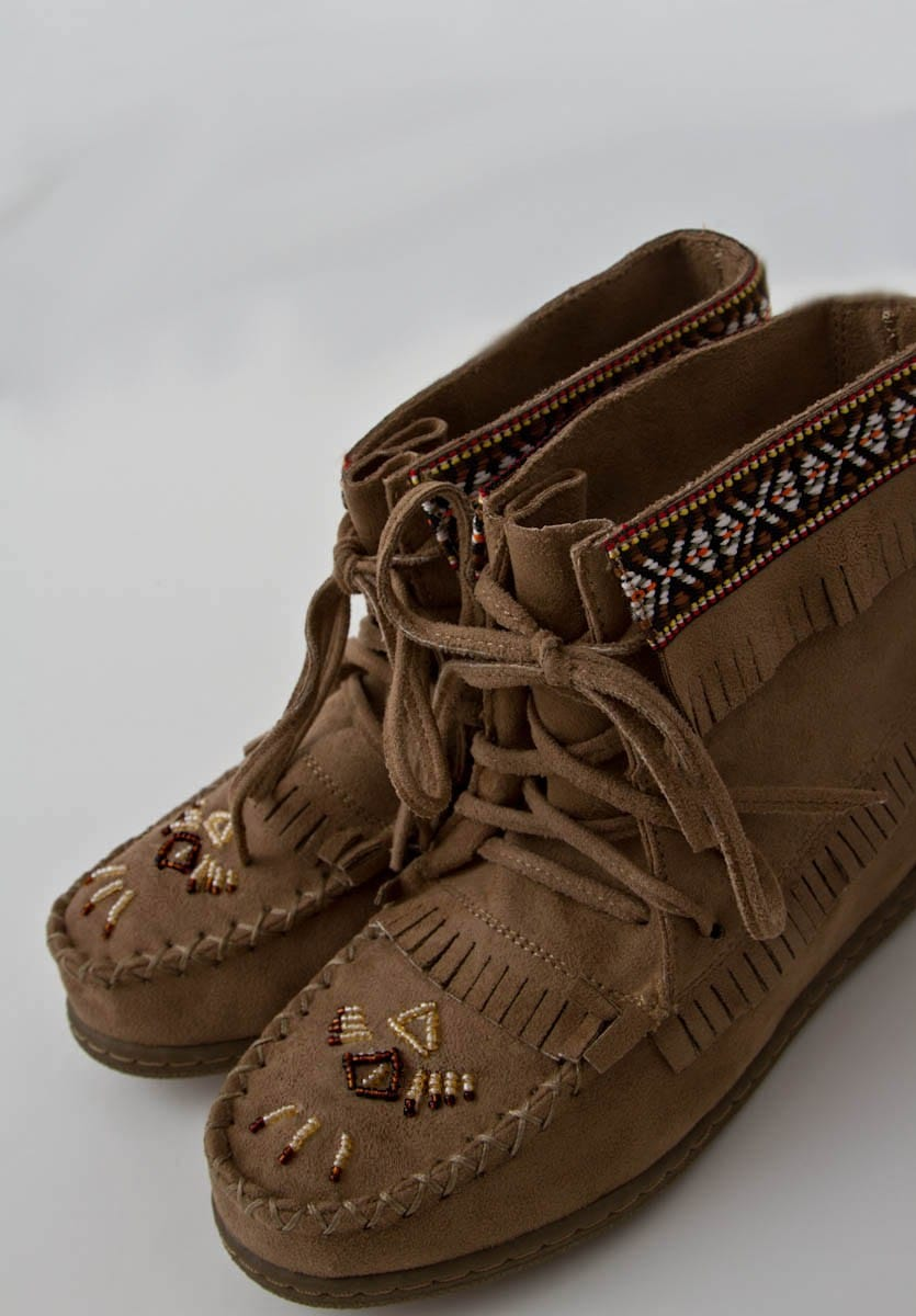 Beaded Moccasin Bootie