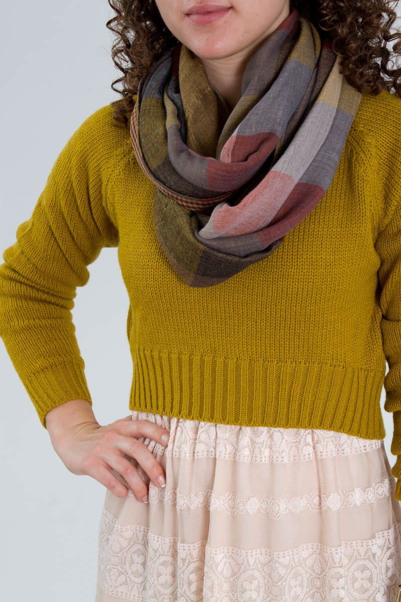 Layering Sweater and Scarf with Dress