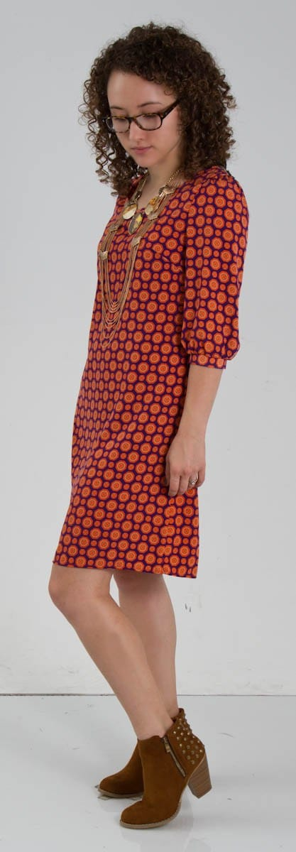Medallion Print Shift Dress