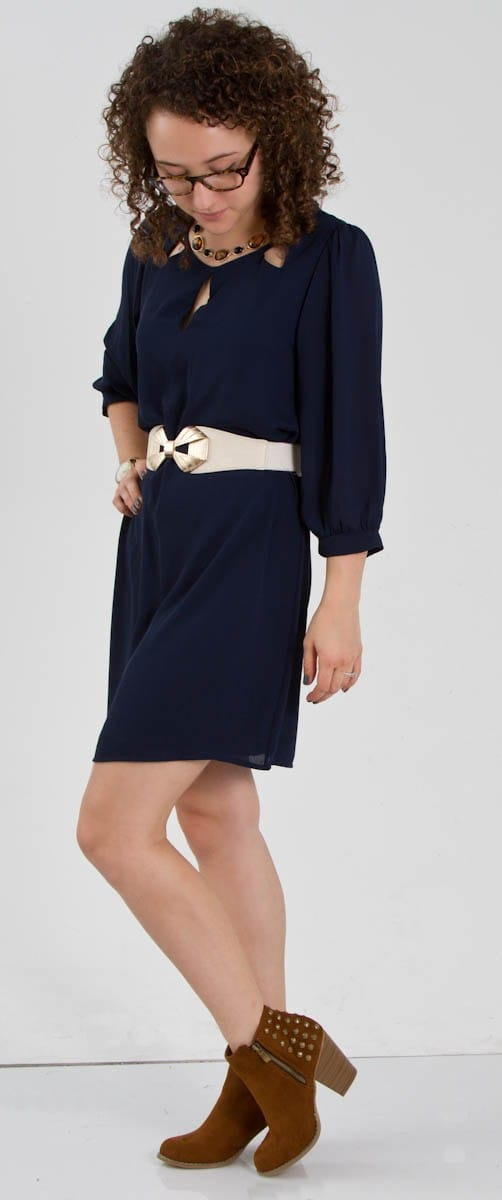 Everly Navy Shift Dress