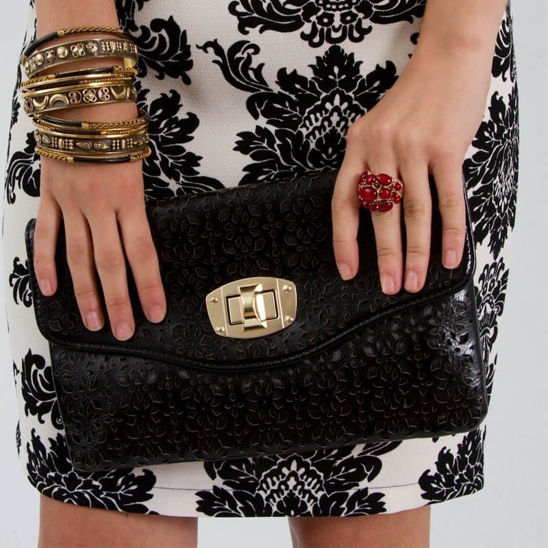 Everly Dress With Clutch