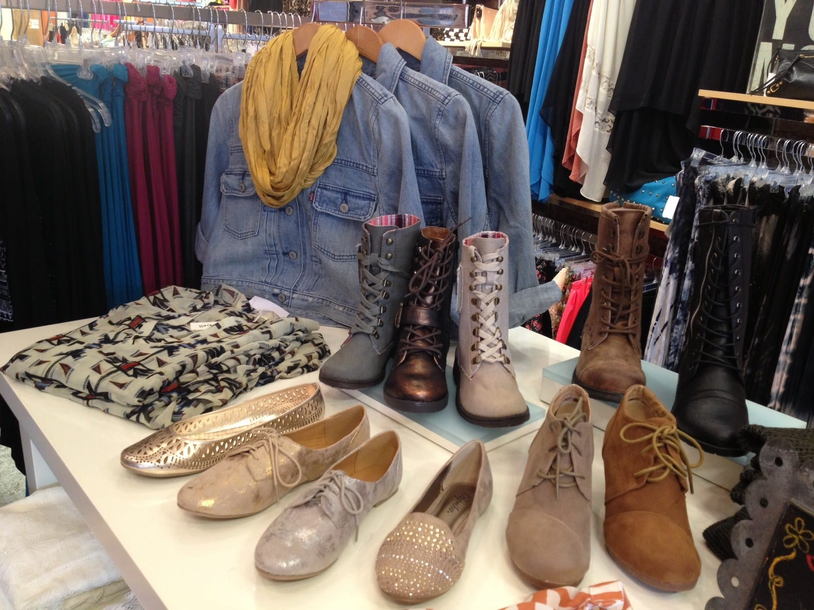 Combat Boots and Flats at Glik's in Columbia, MO