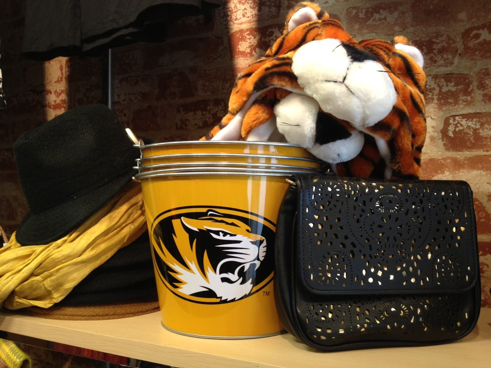 Mizzou Buckets and Tiger Hats at Glik's in Columbia, MO