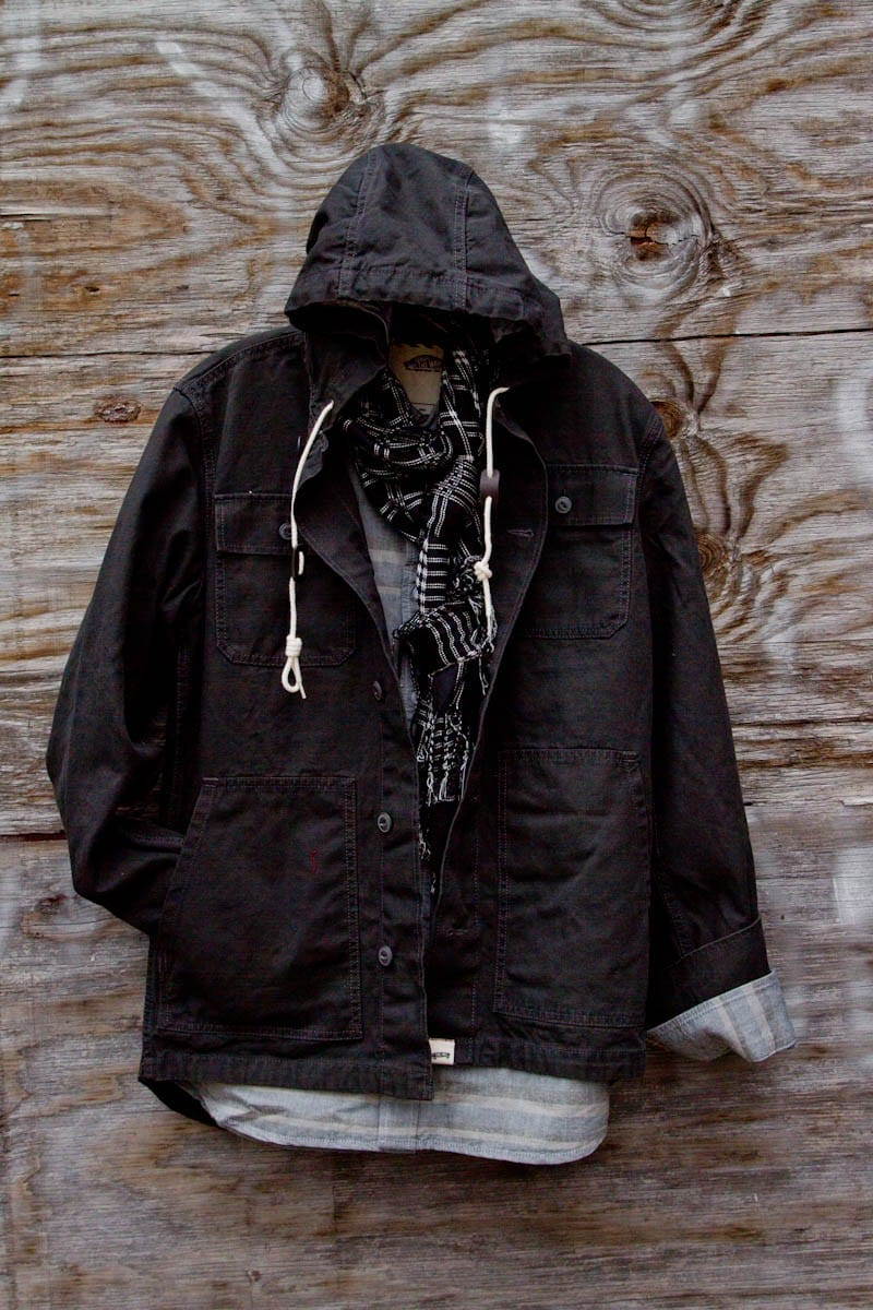 military inspired canvas jacket for men