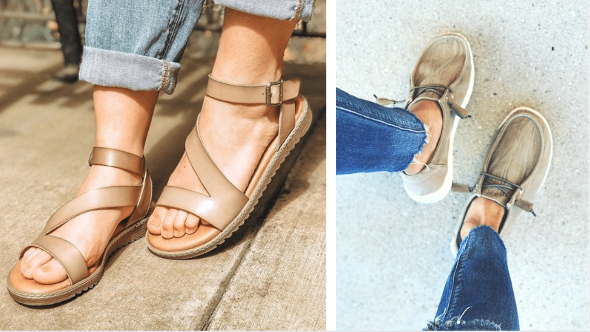 Summer sandals and summer sneakers for women