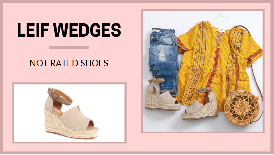 Not Rated Leif Wedges