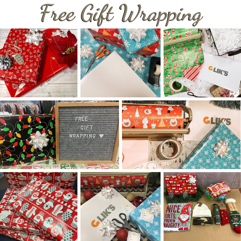 Free Gift Wrapping at Glik's!