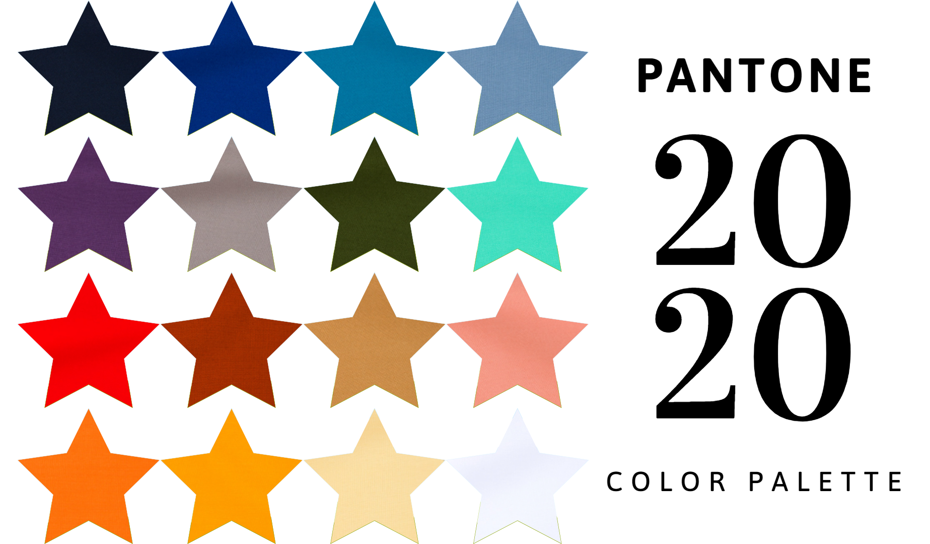 Pantone Color Palette 2020