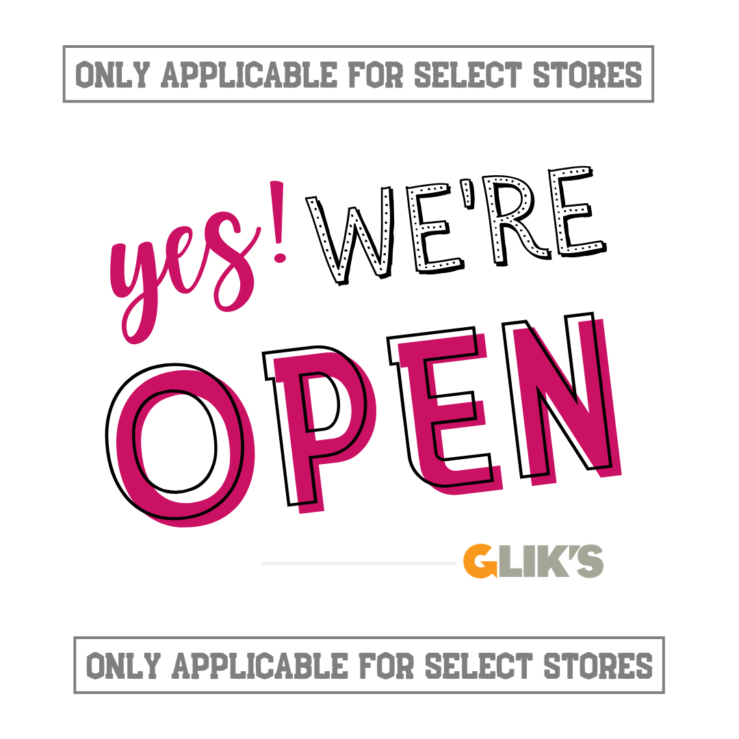 Glik's stores open for shopping