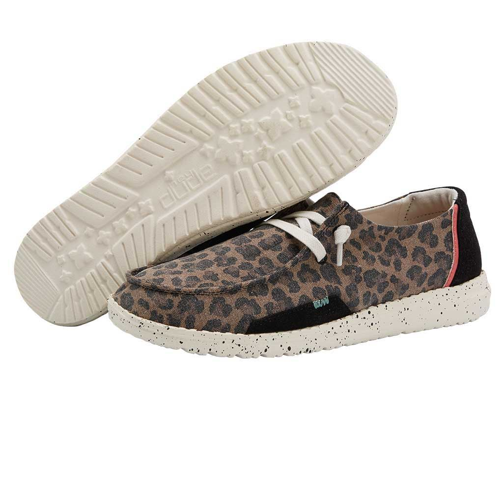 Jungle Brown Leopard Print Dude Womens /'Wendy/' Lace Up Canvas Shoes