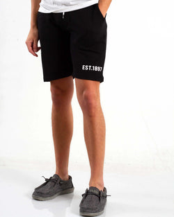 1897 Knit Drawstring Shorts for Men in Black