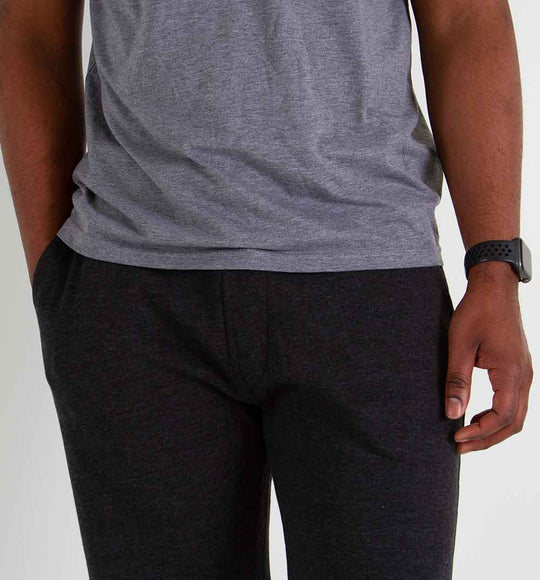 1897 Fleece Shorts for Men in Charcoal | MP410-CHAR