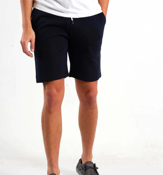 1897 Knit Drawstring Shorts for Men in Navy
