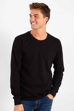 1897 Long Sleeve Thermal Top for Men in Black