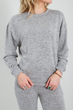 1897 Crewneck Sweatshirt for Women in Heather Grey