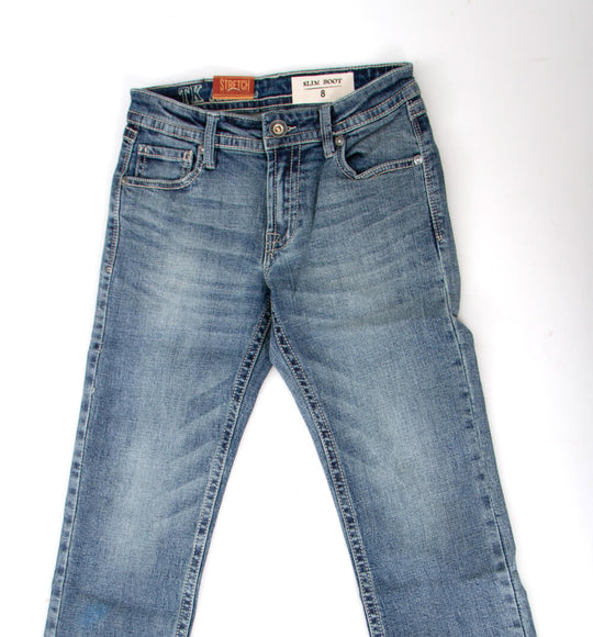Axel Jeans David Slim Bootcut Jeans for Boys in Light Wash