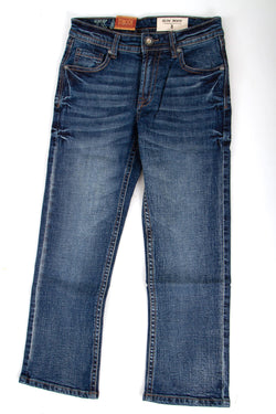 TK Axel Jeans Hunter Slim Bootcut Jeans for Boys in Dark Wash