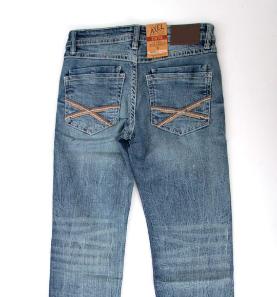 Axel Jeans Sam Classic Straight Leg Jeans for Boys in Light Wash