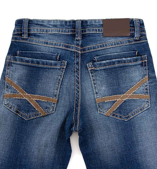Axel Jeans James Straight Leg Medium Wash Jeans for Boys