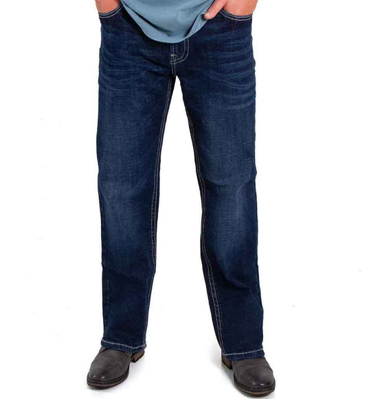 Mens Axel Jeans Noel Slim Boot Jeans for Men in Canal