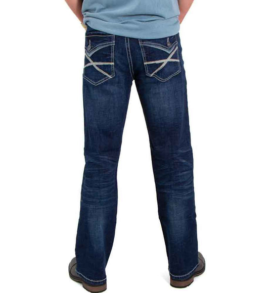 Axel Jeans Noel Slim Boot Jeans for Men in Canal | AXMB0053-CNL