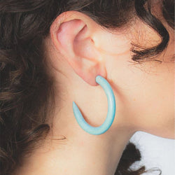 Binky & Lulu Small Hoop Earrings in Maine Sky