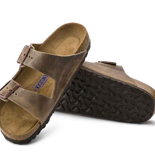 Birkenstock Arizona Oiled Leather Sandals in Tobacco