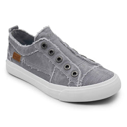 Blowfish Shoes Play Slip On Laceless Sneakers for Women in Light Grey Hipster