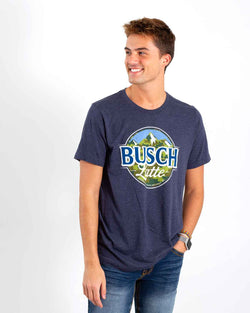 Brew City Camo Busch Latte T-Shirt for Men in Heather Navy