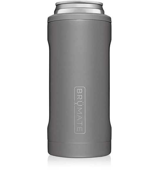 BrüMate 12 oz Hopsulator Slim Can Cooler in Matte Gray