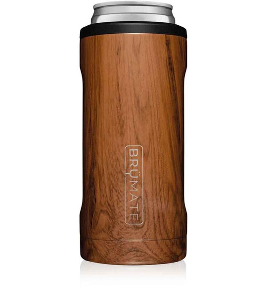 BrüMate 12 oz Hopsulator Slim Can Cooler in Walnut