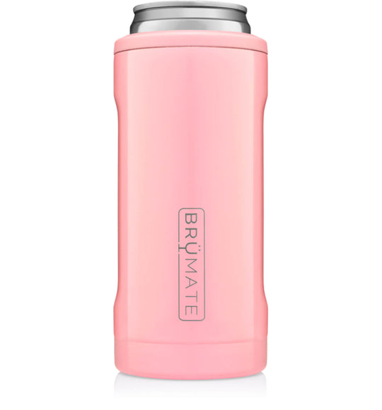 BrüMate 12 oz Hopsulator Slim Can Cooler in Blush