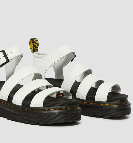Dr. Martens Blaire Hydro Leather Gladiator Sandals for Women in White
