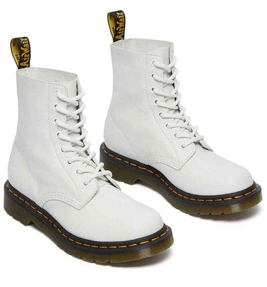 Dr. Martens 1460 Pascal Virginia Leather Boots for Women in White
