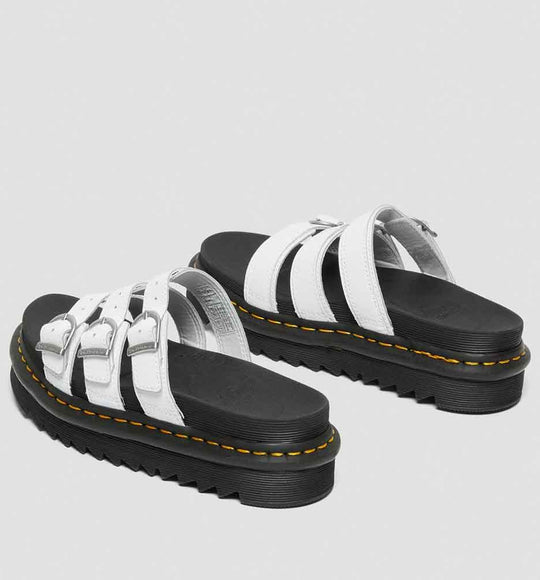 Dr. Martens Blaire Leather Slide Sandals for Women in White