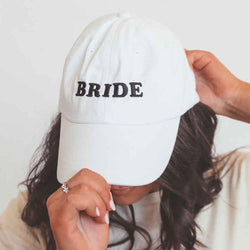 Friday + Saturday Bride Hat in White