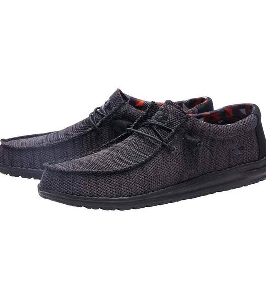 Hey Dude Shoes Men's Wally Sox Shoes in Jet Black