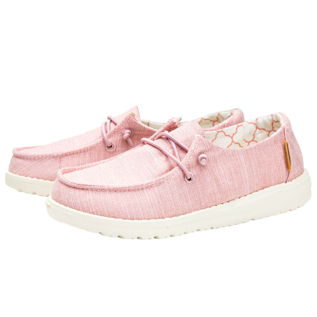 Wendy Youth Linen Shoes in Cotton Candy