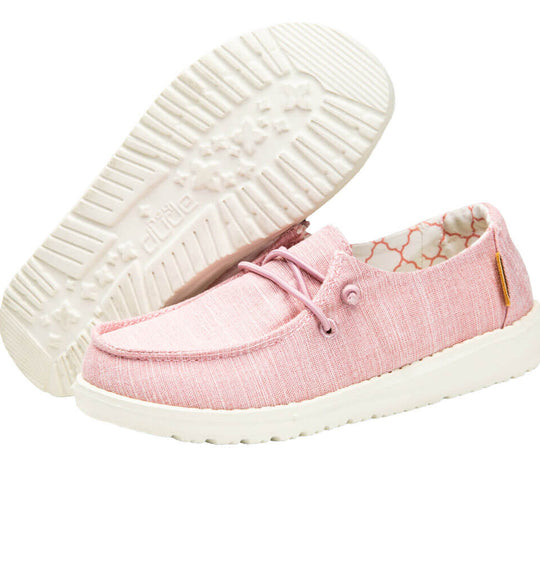 Hey Dude Shoes Girl's Wendy Youth Linen Shoes in Cotton Candy