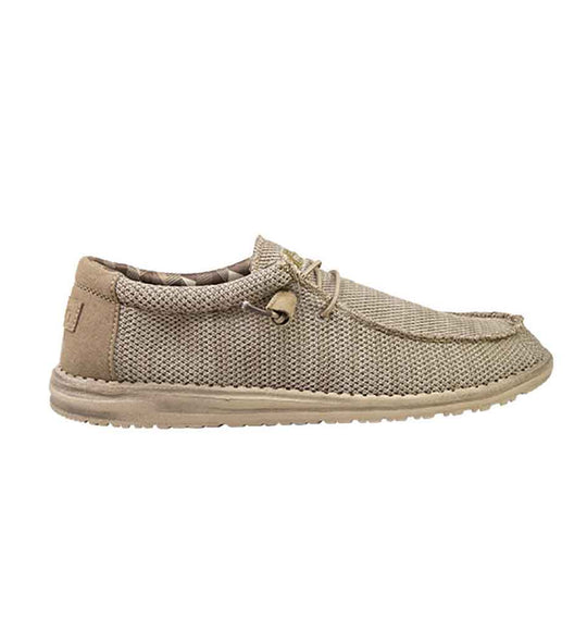 Hey Dude Shoes Men's Wally Sox Funk Shoes in Beige