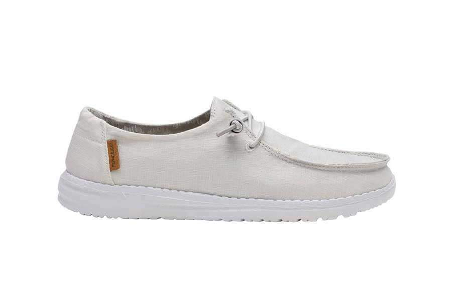 Dude Shoes Femme Wendy Blanc Chambray